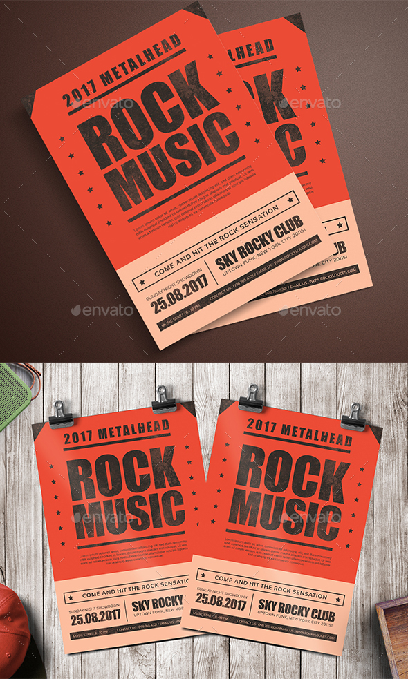 Rock Music Flyer - Events Flyers