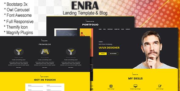 Enra- Landing Template & Blog