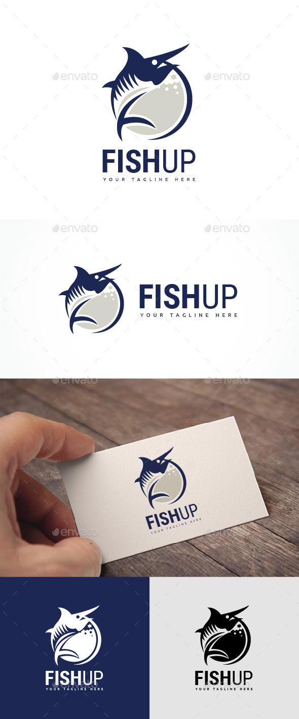 Fish Up Logo - Animals Logo Templates