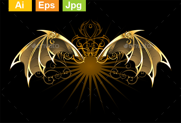 Mechanical Dragon Wings - Decorative Symbols Decorative