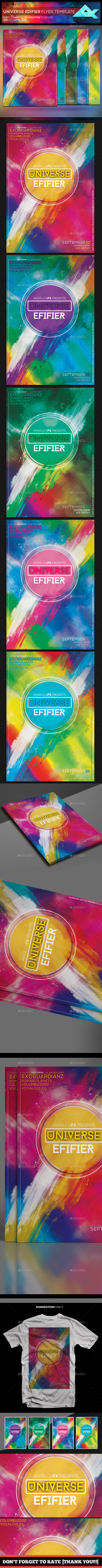 Universe Edifier Flyer Template - Flyers Print Templates