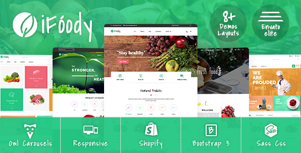 SP iFoody – Responsive Organic Food Shopify Theme