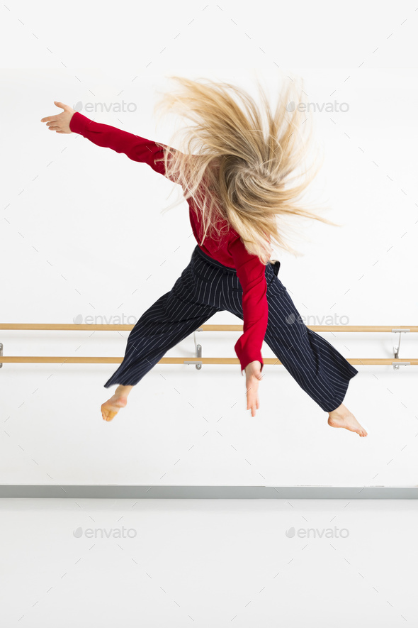 female dancer in action - Stock Photo - Images