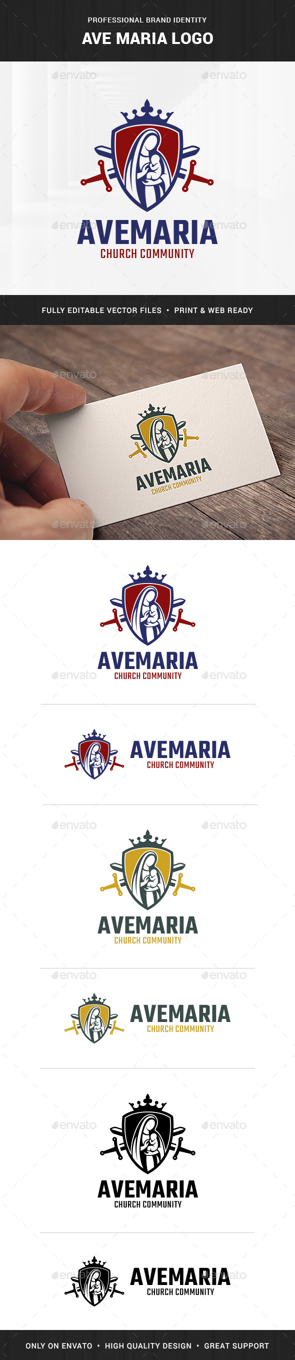 Ave Maria Logo Template - Crests Logo Templates