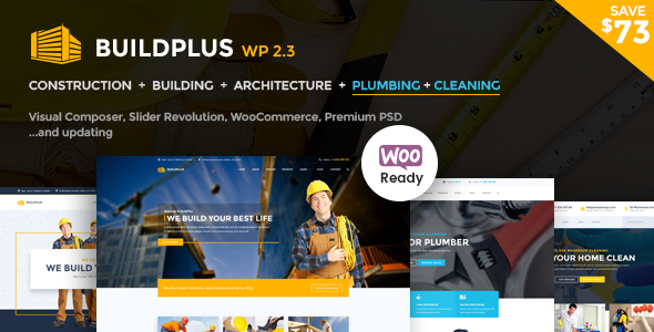 Construction WordPress Theme | Construction WP Build Plus (Construction, Cleaning, Plumbing)