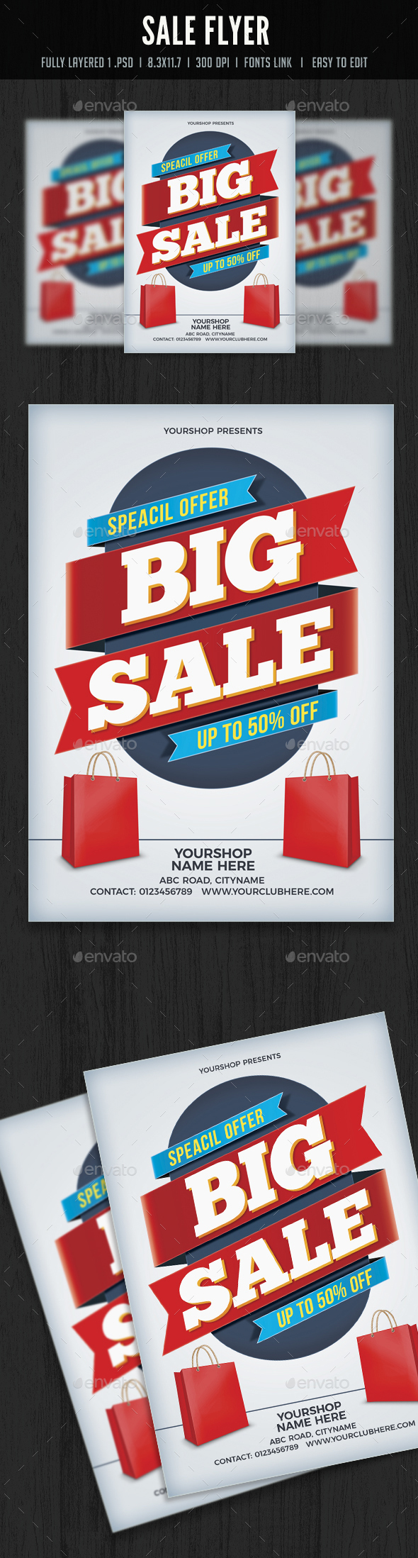 Sale Flyer/Poster - Flyers Print Templates