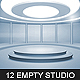 12 Empty Studio & Hall Backgrounds Nulled