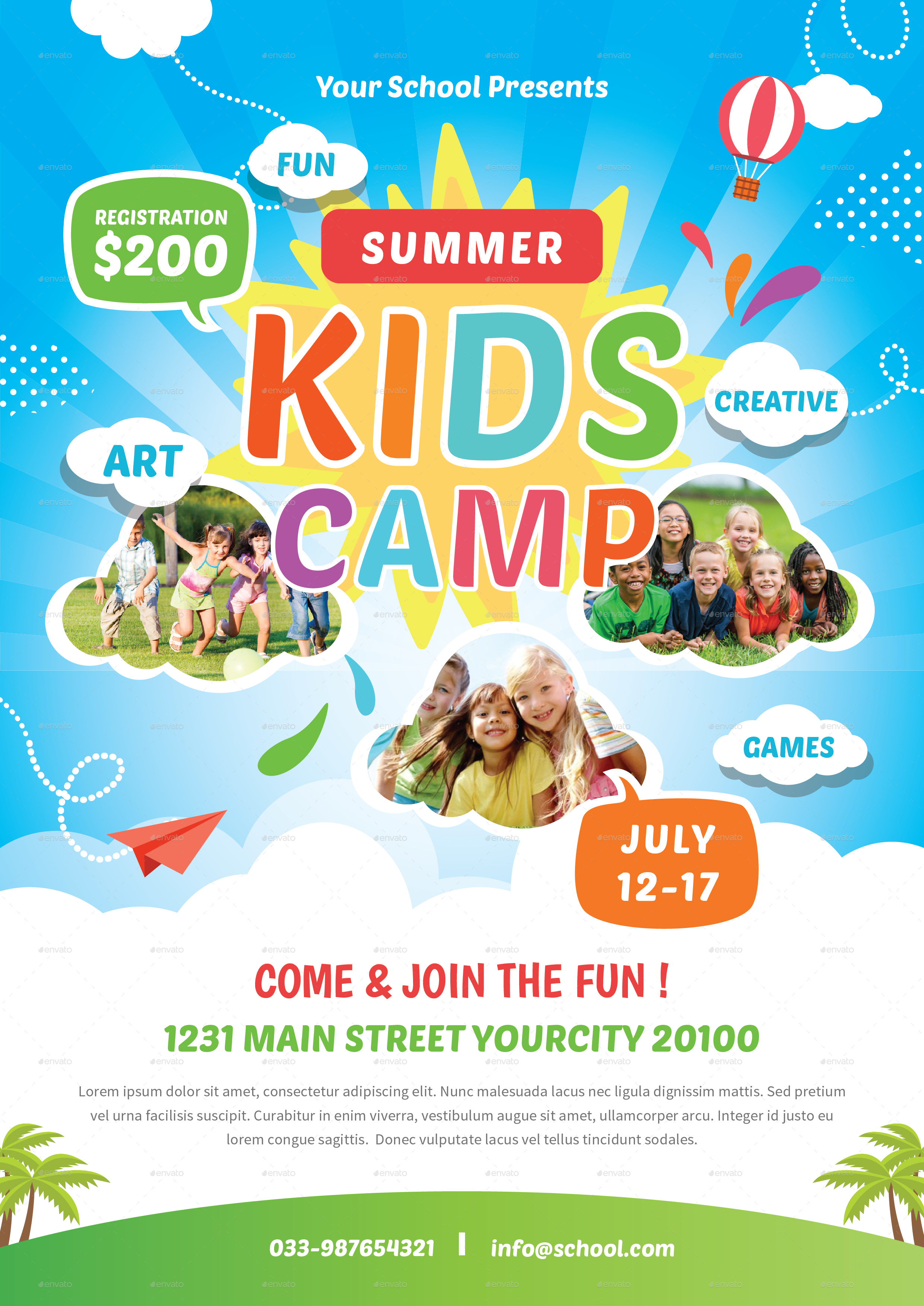 kids summer camp flyer by infinite78910