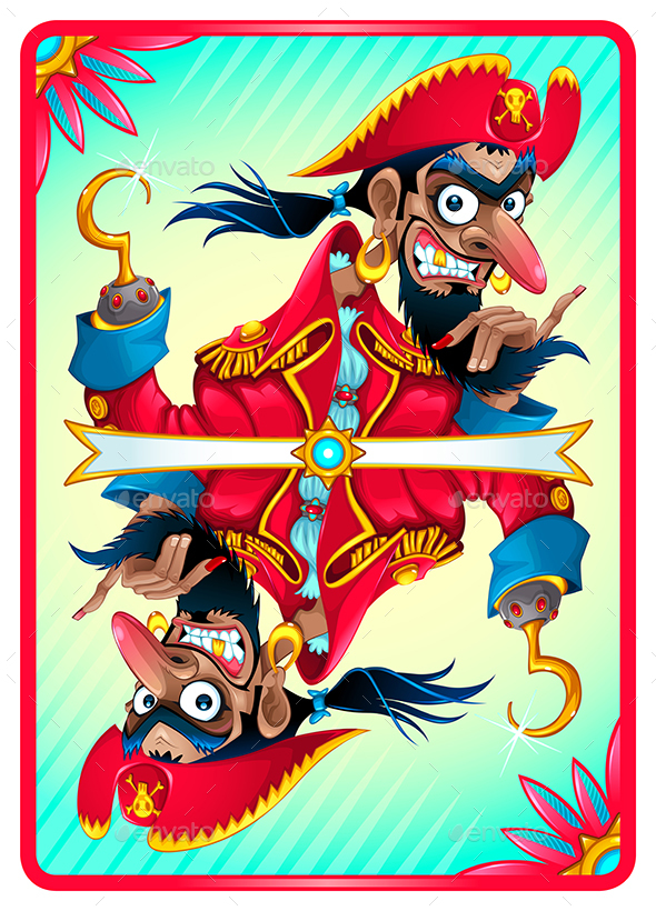 Pirate Card for Gaming - Characters Vectors