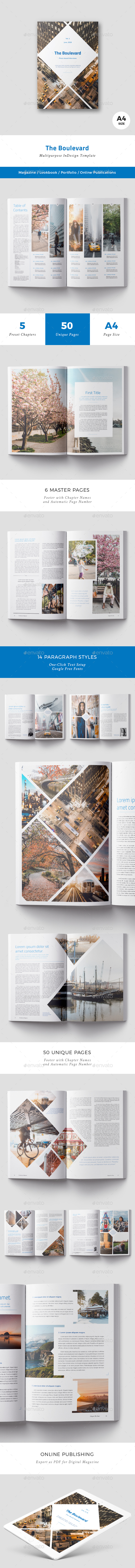 The Boulevard Magazine - Magazines Print Templates
