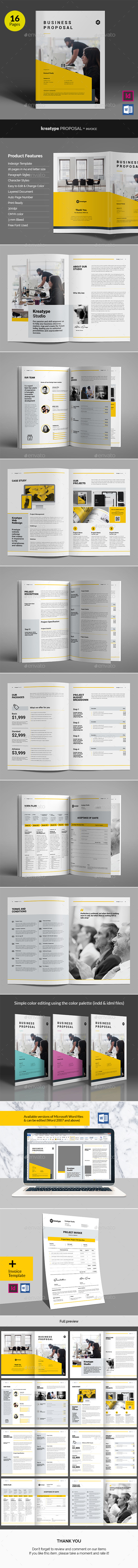 Kreatype Business Proposal v05 - Proposals & Invoices Stationery