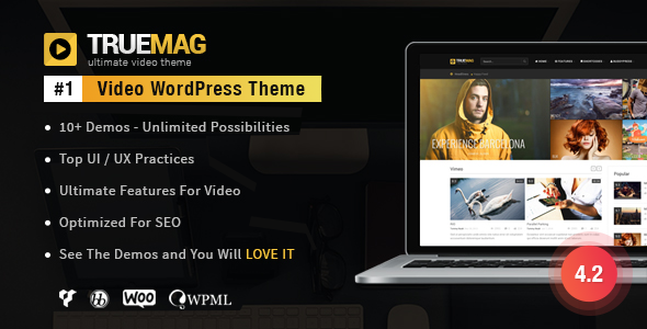 True Mag - WordPress Theme for Video and Magazine - Blog / Magazine WordPress
