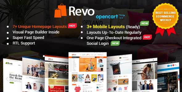 Revo - Drag & Drop Multipurpose OpenCart Theme with Mobile-Specific Layouts - OpenCart eCommerce