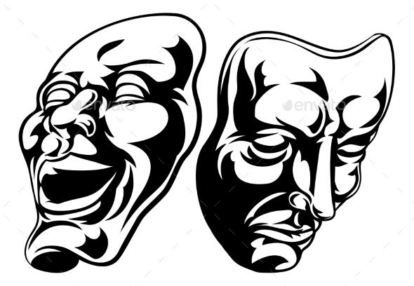 Theatre Masks - Miscellaneous Vectors