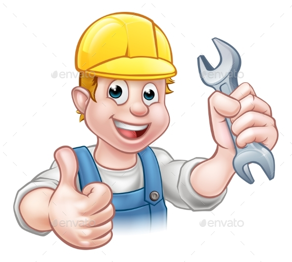 Mechanic or Plumber with Spanner - Industries Business