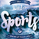 Winter Sports Flyer Template - GraphicRiver Item for Sale