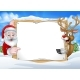 Santa and Reindeer Christmas Sign Background