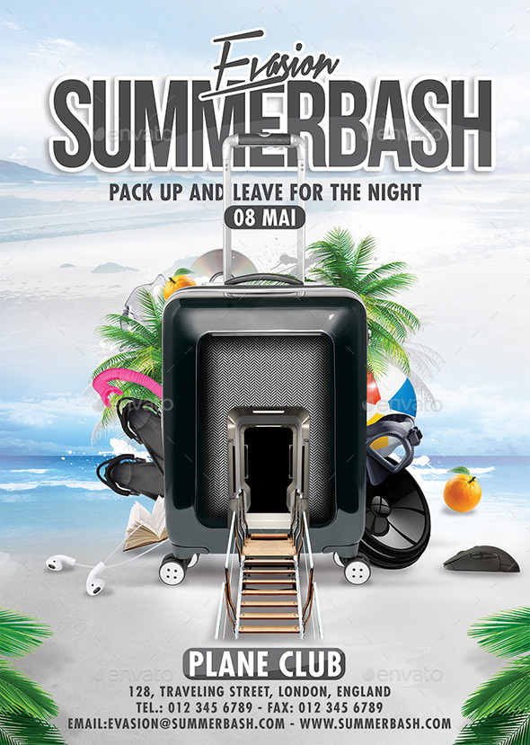 Summer Bash - Events Flyers