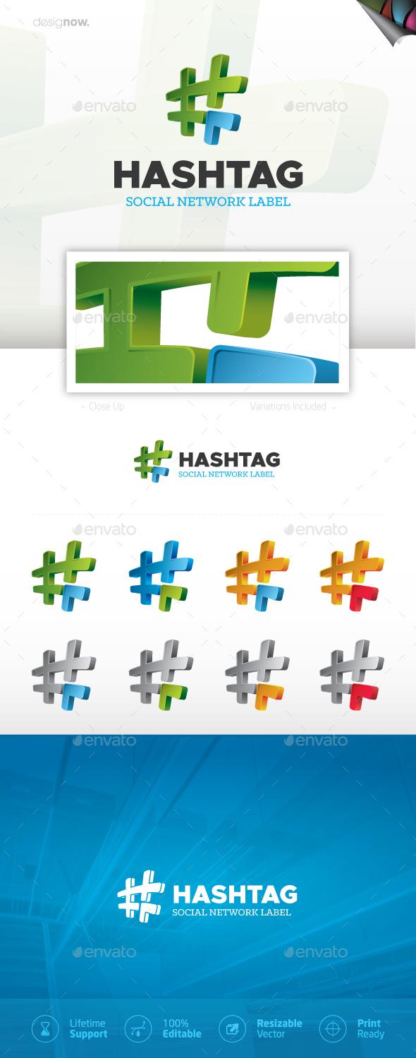 HashTag  Logo - Symbols Logo Templates