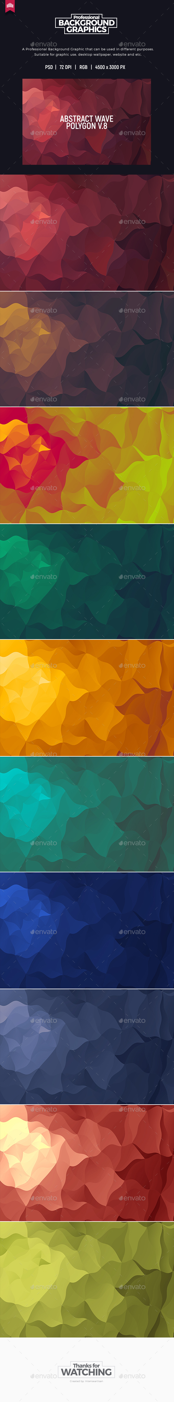 Abstract Polygon V.8 - Background - Abstract Backgrounds