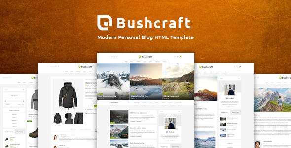 Bushcraft – Personal Blog HTML Template