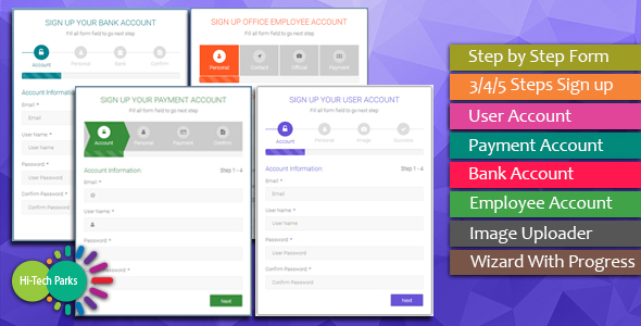 Form Wizard - Multi Step Form Validation - CodeCanyon Item for Sale