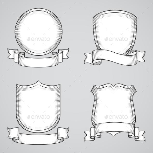 Vintage Heraldic Elements - Miscellaneous Vectors