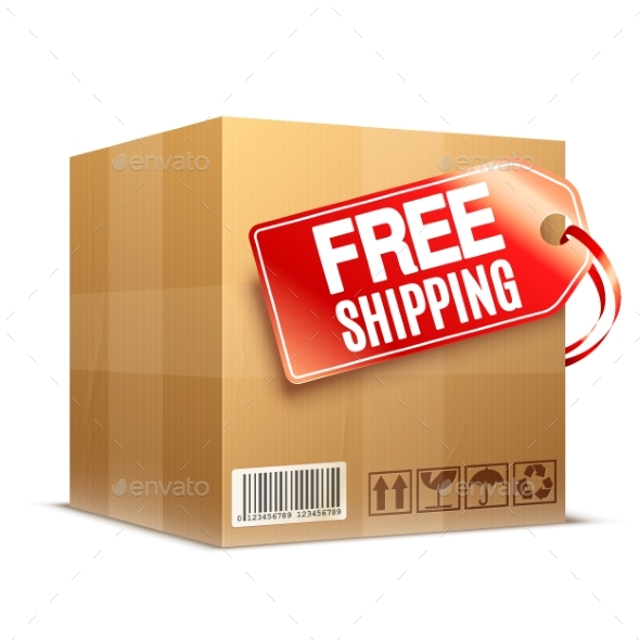 Free Shipping Cardboard Box - Concepts Business