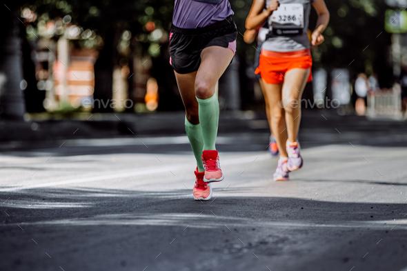 Feet Woman Athletes - Stock Photo - Images