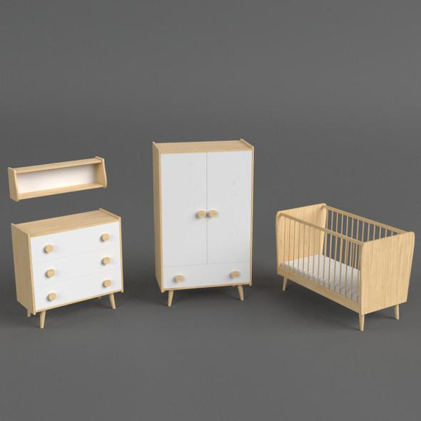 Infant Bedroom Furniture set - 3DOcean Item for Sale