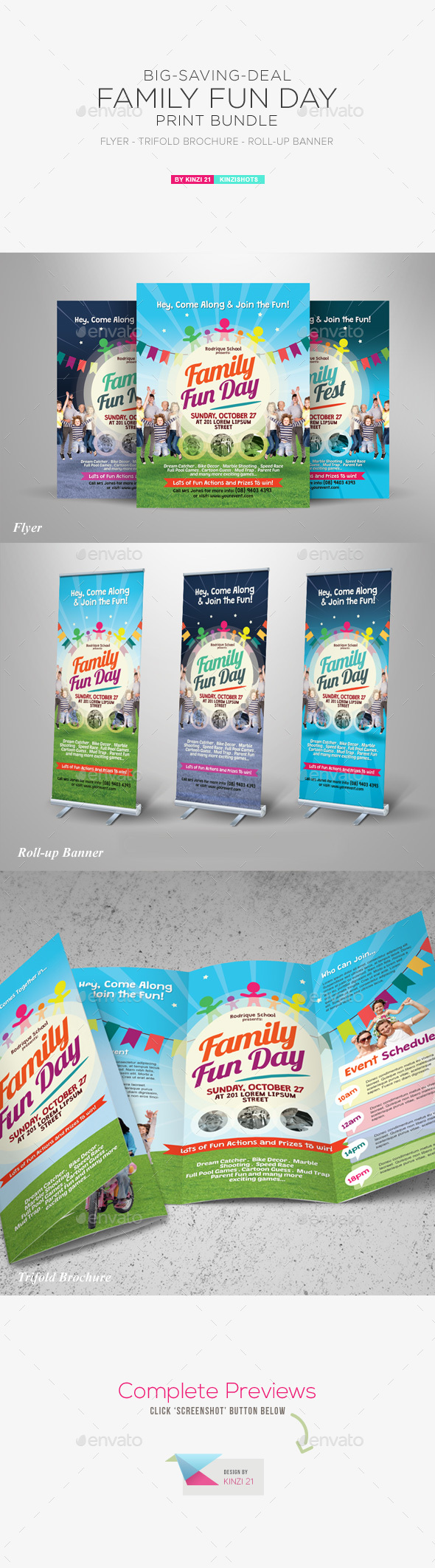 Family Fun Day Print Bundle - Miscellaneous Events