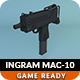 Low Poly Ingram MAC-10 - 3DOcean Item for Sale