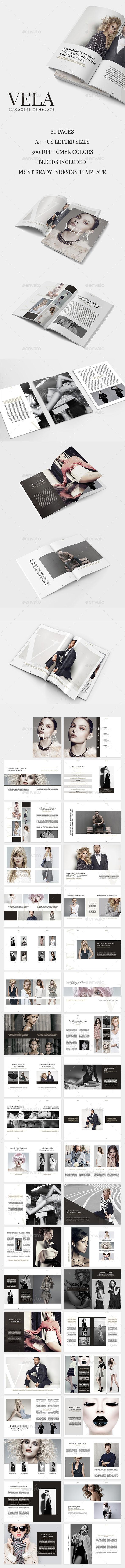 Vela Magazine Template - Magazines Print Templates