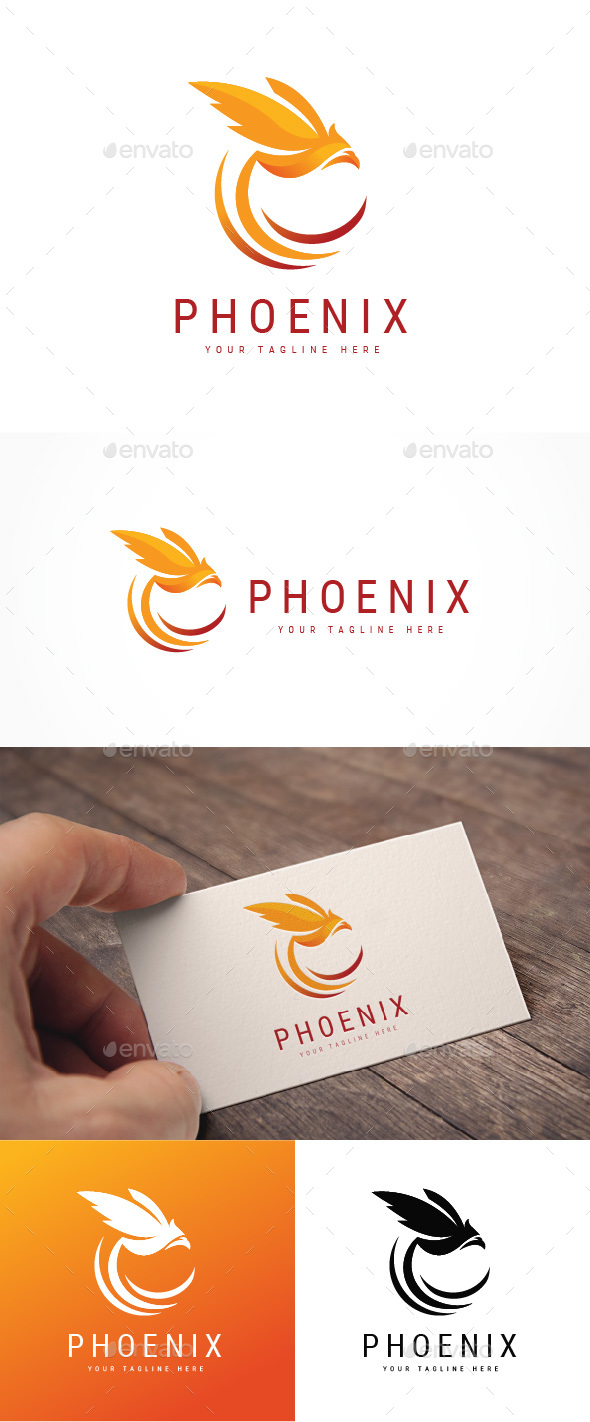 Abstract Phoenix Logo - Animals Logo Templates