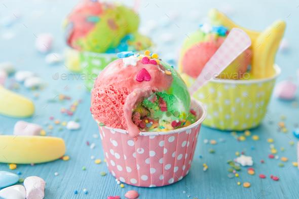 Unicorn Ice Cream - Stock Photo - Images