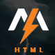 Molnia - Coming Soon HTML Template Nulled