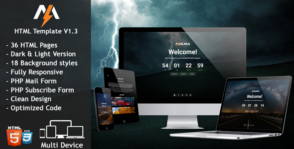 Molnia - Coming Soon HTML Template
