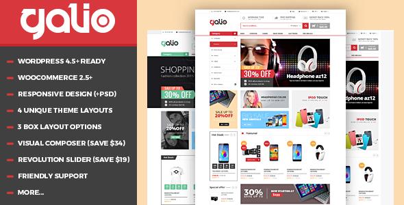 VG Galio - Mega Shop Responsive WooCommerce Theme - WooCommerce eCommerce