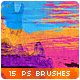 15 Horizontal Paint Trails Photoshop Brushes #2