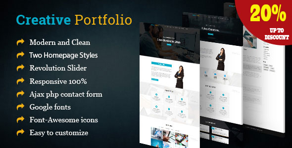 Creative - One Page Portfolio Template - Portfolio Creative