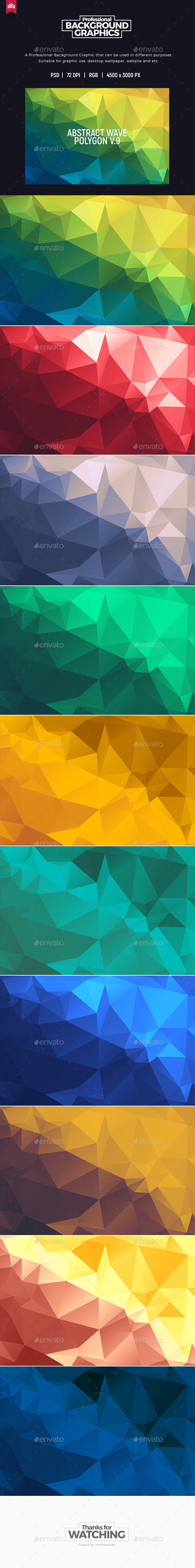 Abstract Polygon V.9 - Background - Abstract Backgrounds