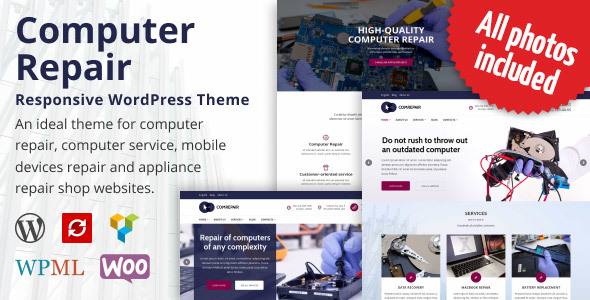 ComRepair - Computer Repair Services WordPress Theme - Technology WordPress