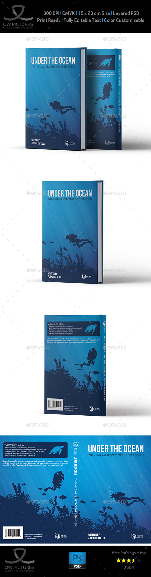 Book Cover Template Vol.4 - Miscellaneous Print Templates