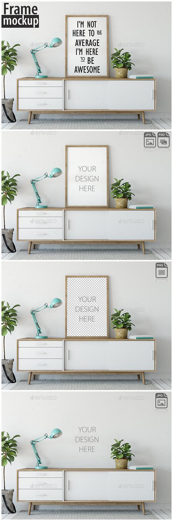 Frame Mockup_03 - Product Mock-Ups Graphics