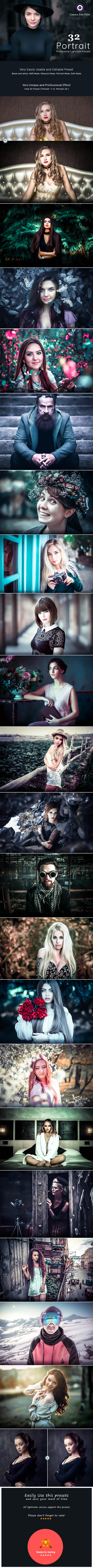 32 Professional Portrait | Lightroom Presets - Portrait Lightroom Presets