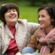 Two Smiling Brunette Women Are Talking To Each Other Sitting on the Blanket During the Picnic - VideoHive Item for Sale