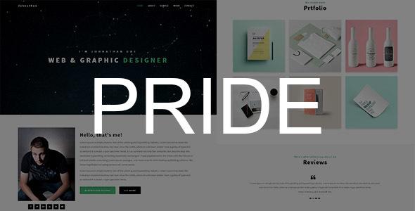 PRIDE – Personal Portfolio Template