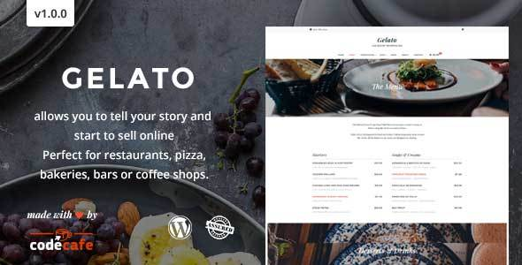Gelato – A Magnifient Restaurant Theme