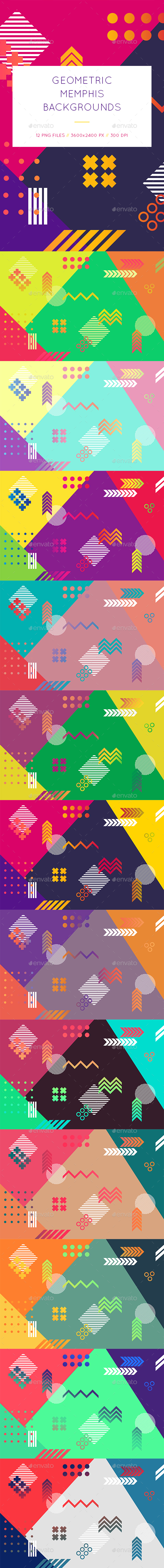Geometric Memphis Backgrounds - Abstract Backgrounds
