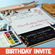Ticket Birthday Party Invitation Card - GraphicRiver Item for Sale